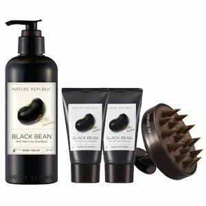 Nature Republic Black Bean Anti Hair Loss Set ชุดแชมพู ทรีตเมนท์พร้อมแปรงสระผม