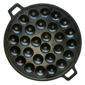 กระทะเหล็กหล่อ 28 หลุม สำหรับทำขนมครก ไข่นกกระทา