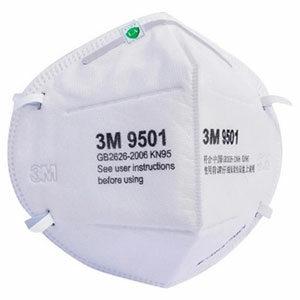 3M 9501+ หน้ากากป้องกันฝุ่น ระดับ N95 ไม่มีวาล์ว