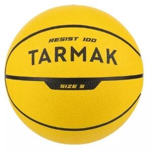 ลูกบาสเก็ตบอล TARMAK เบอร์ 5 ทนทาน รุ่น R100 (สีเหลือง) ดีแคทลอน