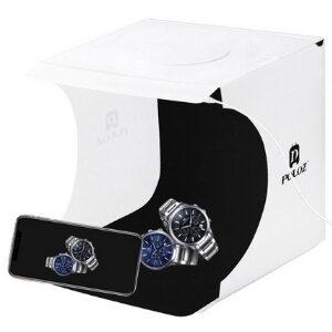 PULUZ Light Box กล่องไฟถ่ายภาพ 2 LED & ผ้าฉาก 6 สี 20x20 CM