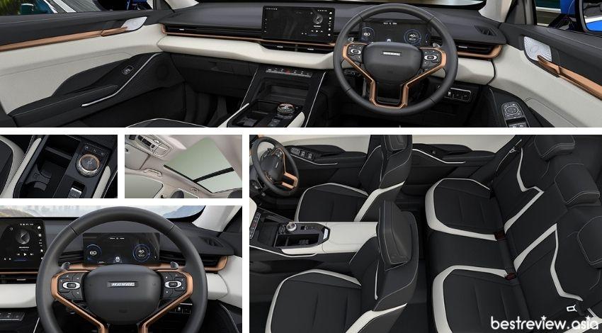 ดีไซน์ภายในของ All New HAVAL H6 Hybrid SUV