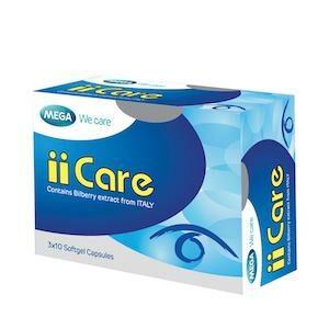 Mega We Care (เมก้า วีแคร์ ไอไอแคร์) ii Care Bilberry Extract บำรุงสายตา
