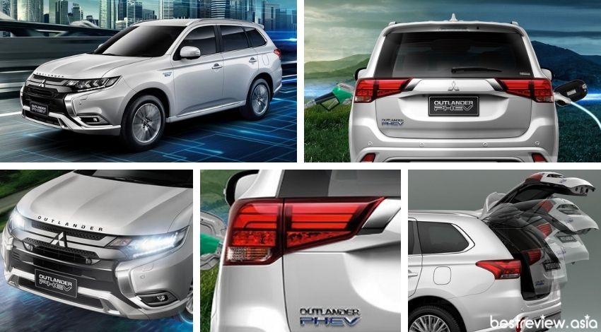 ดีไซน์ภายนอกของ Mitsubishi Outlander PHEV
