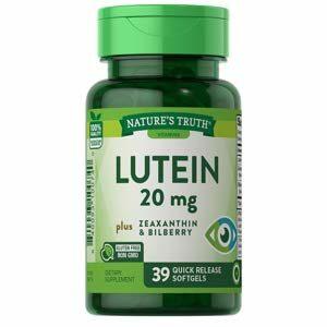 Nature's Truth Lutein 20 mg + Zeaxanthin & Bilberry อาหารเสริมบำรุงสุขภาพดวงตา