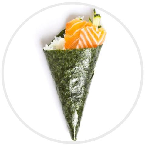 ประเภทของซูชิ Temaki Sushi