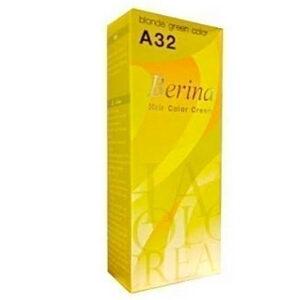 ครีมย้อมผม เบอริน่า : Berina A32 สีบลอนด์เขียว (Blonde Green Color)