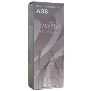 ครีมย้อมผม เบอริน่า : Berina A38 Light Ash Blonde สีบลอนด์อ่อนประกายหม่น