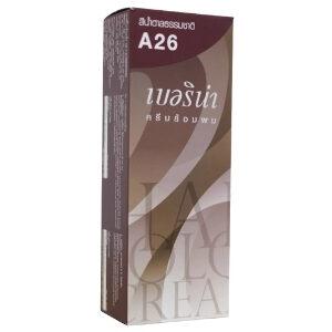 ครีมย้อมผม เบอริน่า : Berina A26 Natural Brown Color สีน้ำตาลธรรมชาติ