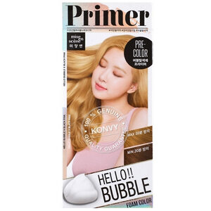 Mise En Scène Hello Bubble : Primer ไพร์มเมอร์ ฟอกสีแบบถนอมเส้นผม