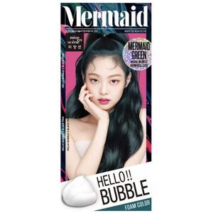 Mise En Scène Hello Bubble : สี Mermaid Green สีเขียวเข้ม ให้ลุคแฟชั่นแบบแพงๆ