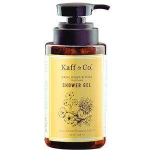 Kaff & Co เจลอาบน้ำดอกคำฝอยและใบบัวบก ปลอบประโลมผิวระคายเคือง